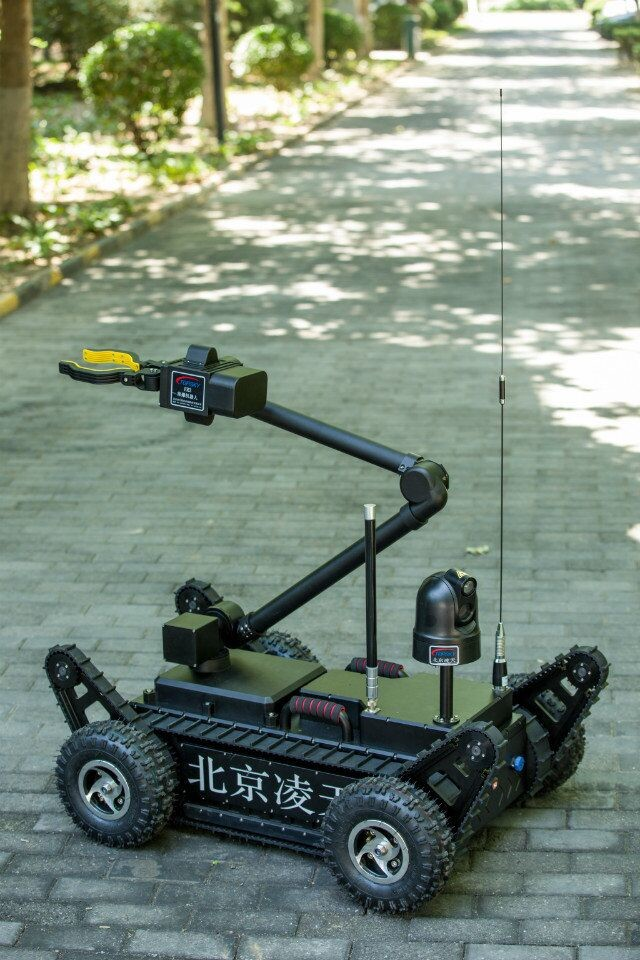 Remote Control Counter Terrorism Equipment EOD Robot 360° Panoramic